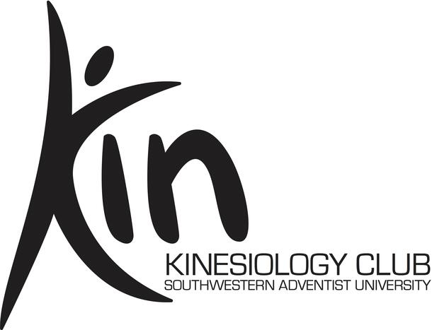 """Kinesiology Club logo which shows a drawn person whose body is shaped like a """"K"""" followed by the rest of the club's name"""